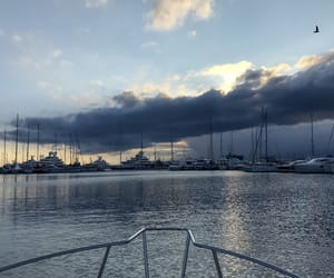 blue, cloud, and boat image