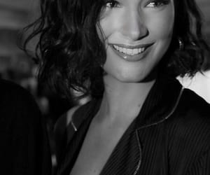 black and white, model, and smile image