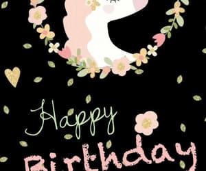 happy birthday and unicornios image