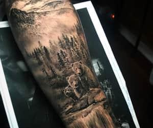 tattoo, animal tattoo, and nature tattoo image