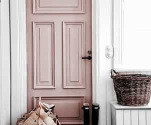 pink, home, and door image