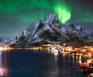 lights, night, and night sky image