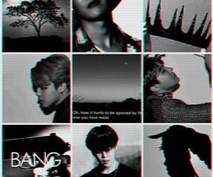 black and white, jin, and kpop image