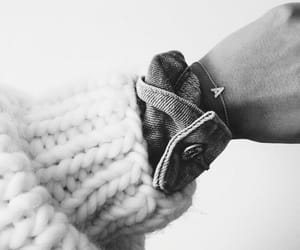 black&white, hand, and sweater image
