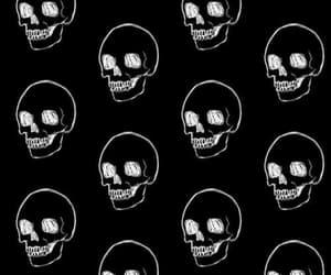background, dark, and skull image