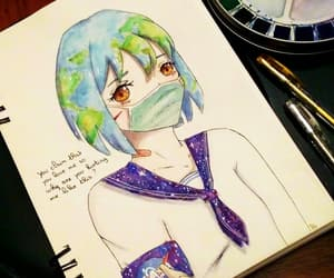 drawing, manga, and earth-chan image