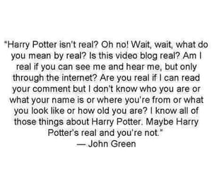 harry potter, john green, and book image