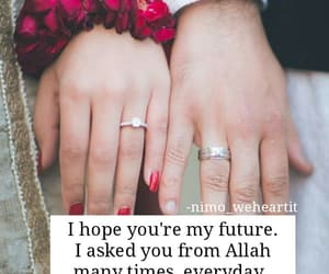 blessed, islamic couple, and hands image