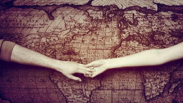 distance, love, and couple image