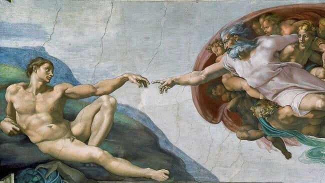 art, michelangelo, and painting image