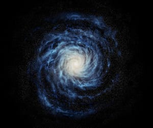 blue, cosmos, and galaxy image