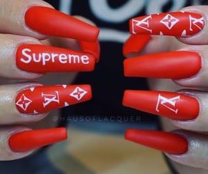Louis Vuitton, nail art, and nails image