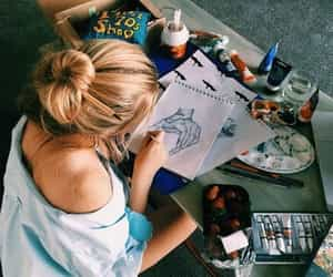 art, drawing, and blonde image