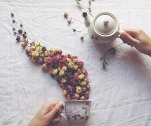 flowers, art, and cup image