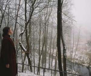 winter, girl+, and forest+ image