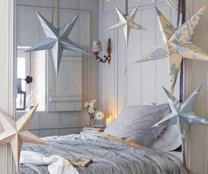 bedroom, stars, and home image