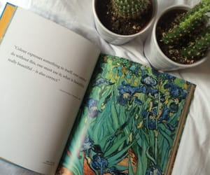 art, book, and cactus image