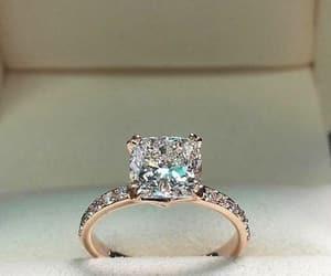 ring, wedding, and diamond image