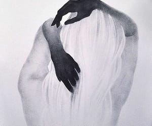 white, black, and drawing image