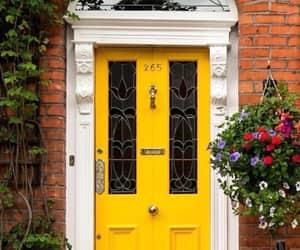 yellow and door image