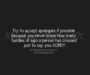 apologize, deep, and quotes image