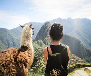 travel, girl, and peru image