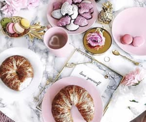 breakfast, coffee, and pink image