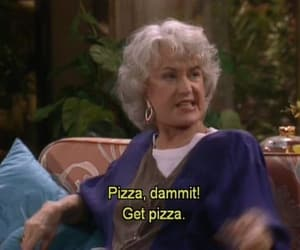 pizza, food, and golden girls image
