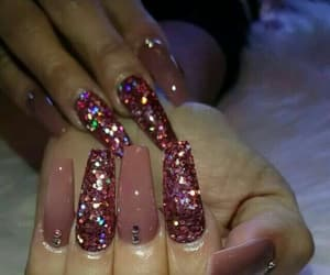 amazing, long nails, and glitternails image