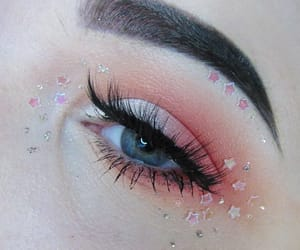 makeup, eyes, and cute image