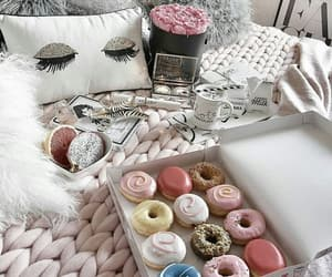 donuts, blanket, and doughnuts image