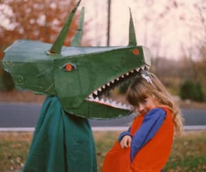 childhood, dragon, and vintage image
