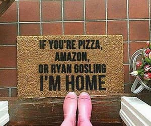 home, pizza, and ryan gosling image
