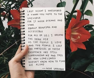 quotes, flowers, and journal image