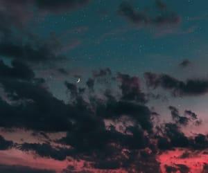 sky, sunset, and stars image
