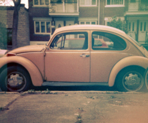 car, vintage, and pink image