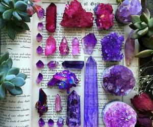 crystal, purple, and book image