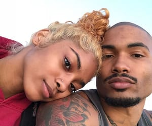 couple, sky, and Tattoos image