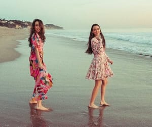 beach, merrell twins, and veronica merrell image