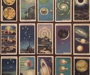 art, planets, and cards image