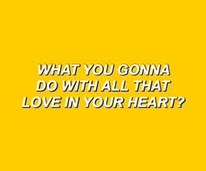 Lyrics, wallpaper, and yellow image