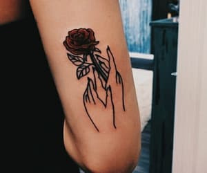 tattoo, rose, and tumblr image
