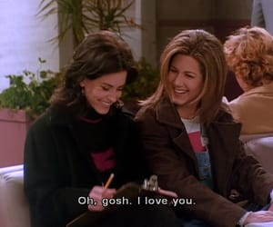 friends, subtitles, and love image