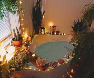 plants, bath, and candle image
