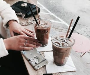 bag, outfit, and cafe image