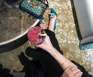bag, drink, and heels image