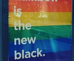 gay, rainbow, and love image