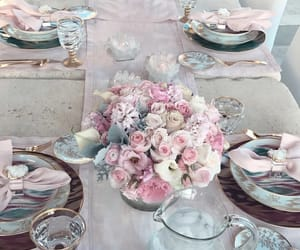 dinner and flowers image
