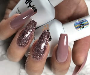 goals, nails, and pink+glitter image