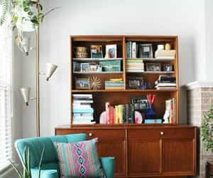 inspiration, living room, and midcentury modern image